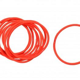 Image of   Bundt med 10 stk Tynde røde hårelastikker