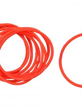 Bundt med 10 stk Tynde røde hårelastikker
