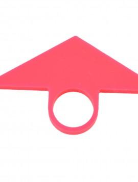 Pink ring med trekant