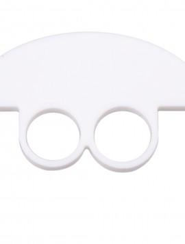 Hvid ring med halv cirkel