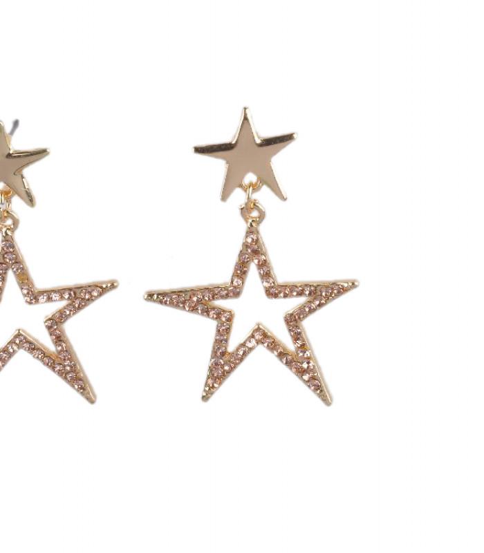 Stjerne øreringe i guld look