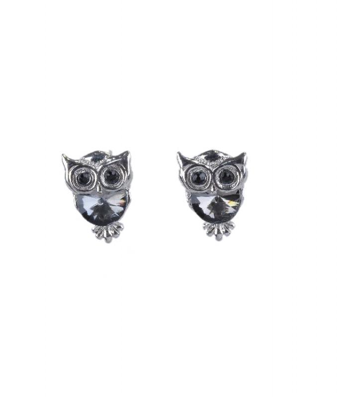 Ugle øreringe i sølv look