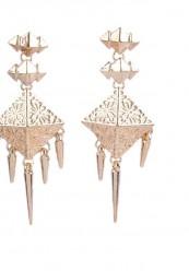 Indisk inspireret ørering i guld look
