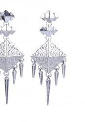 Indisk inspireret ørering i sølv look