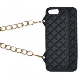 Sort Iphone cover med kædehank