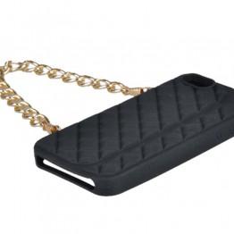 Lyserødt Iphone cover med kædehank