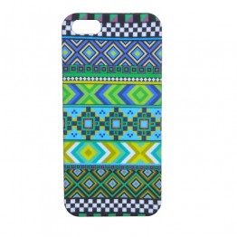 Grøn-blåt mønstret Iphone5 cover
