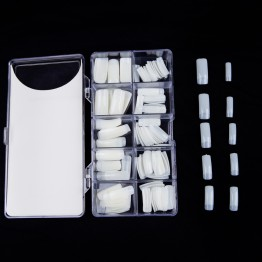 Negleextensionsæt hvid acryl