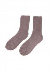 Hyggestrømper i grå-brun