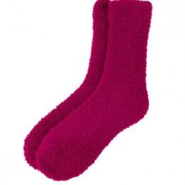 Hyggestrømper i mørk pink