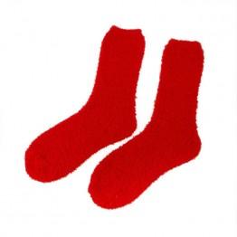 Hyggestrømper i rød