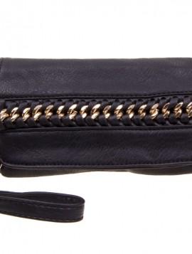 Sort clutch med dekorativ kæde