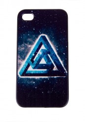 Mørke blåt Iphone5 cover med grafisk motiv