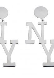 NY øreringe i sølv look
