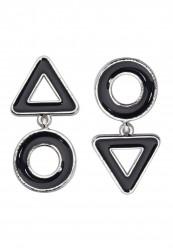 Øreringe i sort og sølv look