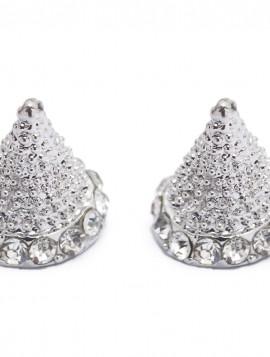 Smuk ørering med i sølv og simili sten