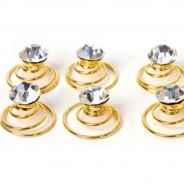Image of   Små guld spiral hårnåle med similisten