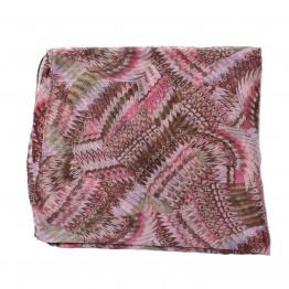 Mønstret tubetørklæde i varme farver