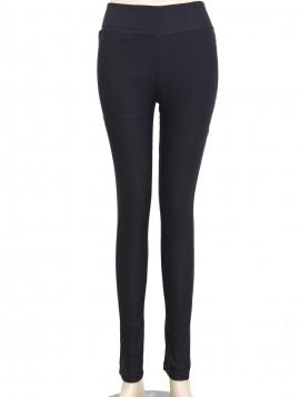 Sorte stretch leggins med bred linning s/m-m/l