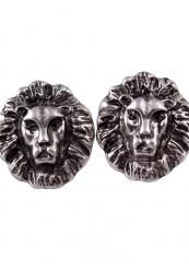 Løve ørering i sølv look