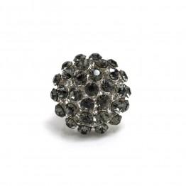 Sølvring med sorte sten