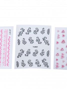 Negle stickers med mønstre