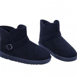 Sorte bamse sko med lavt skaft