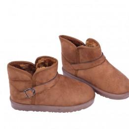 Brune bamse støvler med lavt skaft