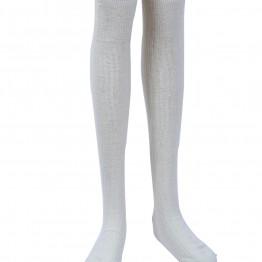 Lange hvide strømper