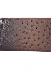 Mørkebrun clutch med detaljer