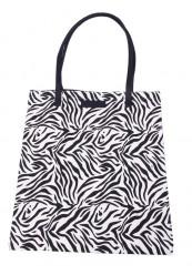 Shopper i sort/hvid mønster