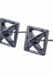 Pyramide formet ørestikker i oxideret.