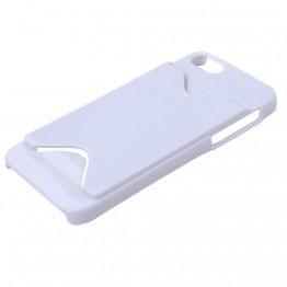 hvidt cover til iphone 4 med plads til kort