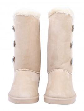 beige bamsestøvle